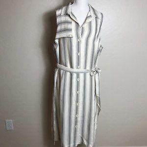 Anthropologie NWT Esther Striped Shirtdress 18W
